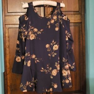 ALTAR'D STATE cold shoulder, long sleeved dress